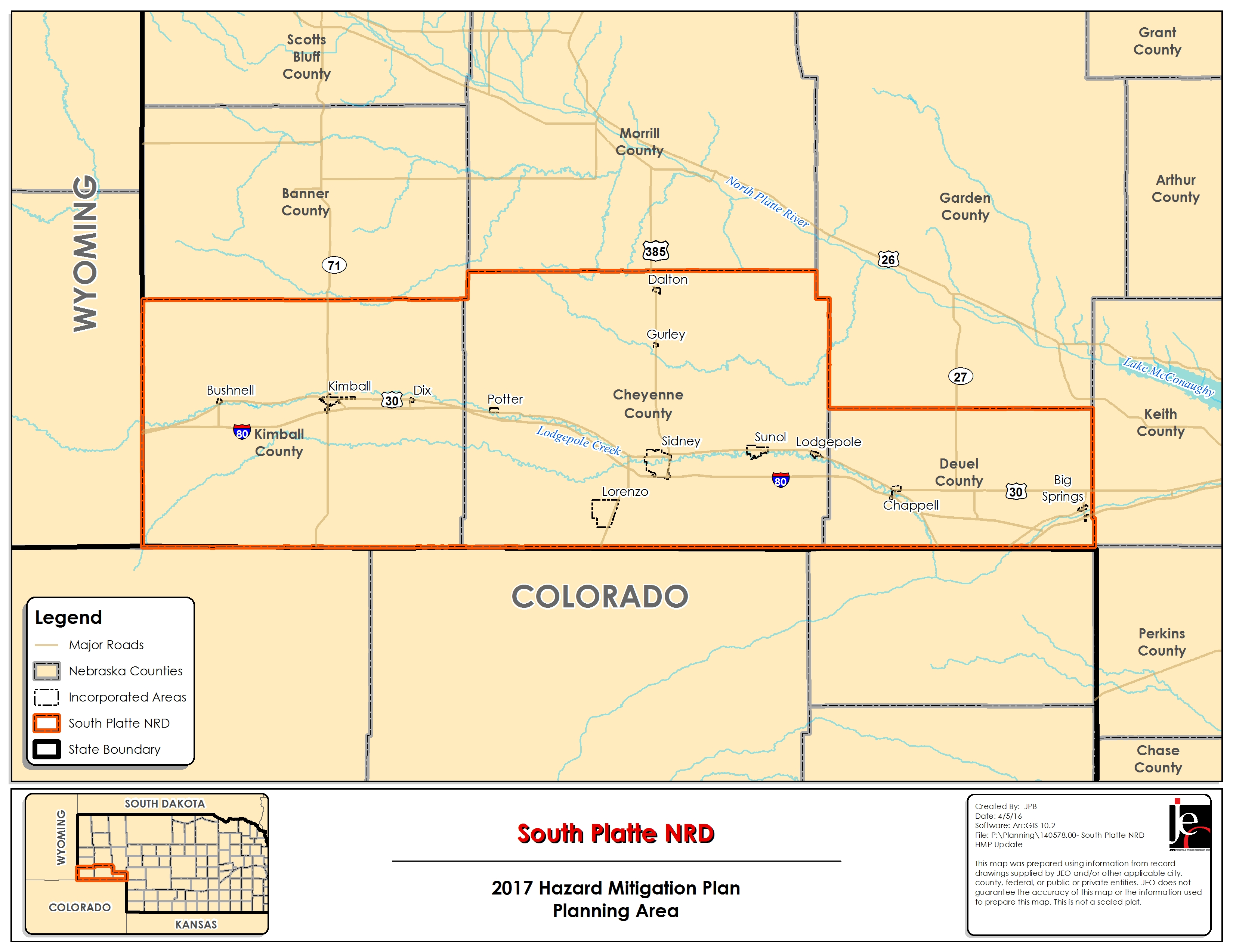 South platte NRD planning map area