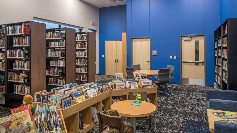 library area of hickman community center