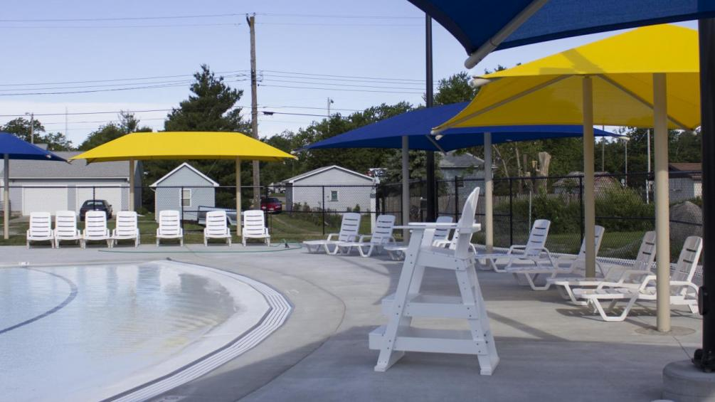 life guard chair and other seating at aquatic center