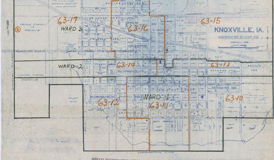census enumaration maps of marion county IA 1950