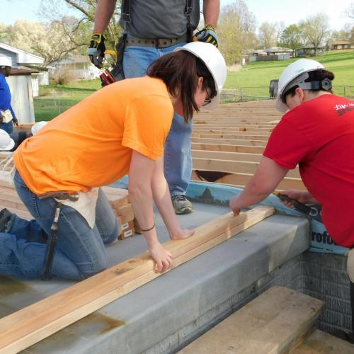 employees building at habitat for humanity
