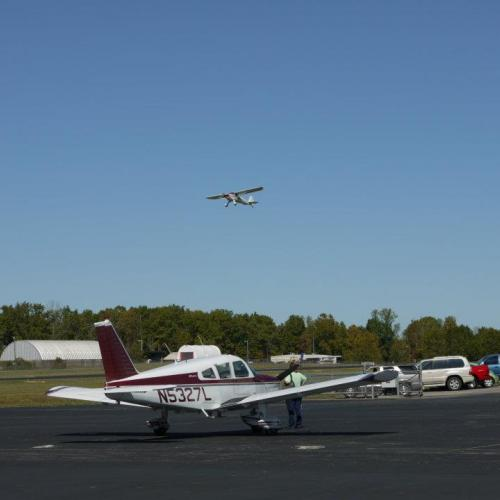 centerville airport runway with airplanes
