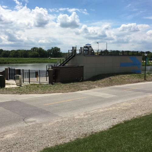 ottumwa lagoon pump station from the front